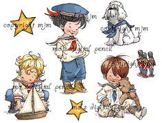 Mo's Digital Pencil - Sailor Boys (set), $10.00 (http://www.mosdigitalpencil.com/sailor-boys-set/)