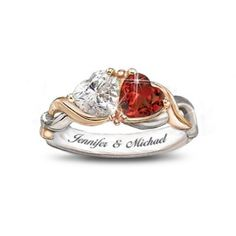Two Hearts, One Love Personalized Ring   The Bradford Exchange