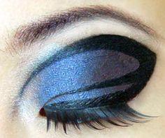 modified cut crease: illamasqua alluvium, shu uemura liquid eye liner, shu uemura slant black false lashes