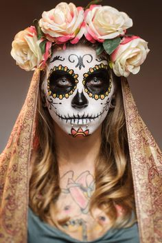 Candy Skull Make-Up by Jacek Woźniak on 500px