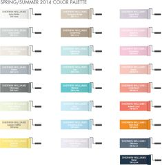 Pottery Barn Kids Recommended Sherwin-Williams Paint Colors for Spring/Summer 2014