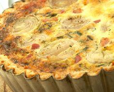 Roasted Shallot, Bacon, Cheddar and Chive Tart Recipe | Main Courses, Tarts Recipes | Kitchen Goddess