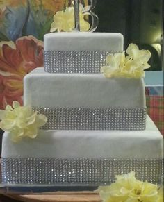 Wedding Cake with Bling.