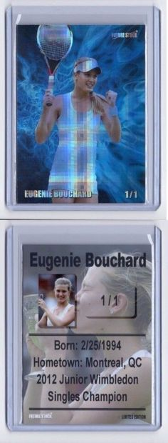 Tennis Cards 43371: Eugenie Bouchard Junior Wimbledon Rookie Card - Refractor - Rare Serial 1 1 -> BUY IT NOW ONLY: $30 on eBay!