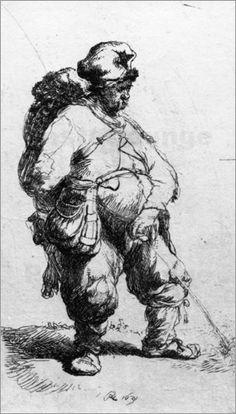 Rembrandt man pissing