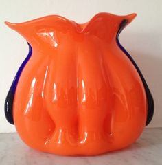 "Kralik tango organic ""organ"" shaped vase 