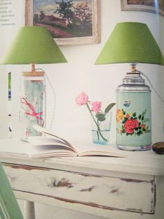 Lamp made from a vintage thermos.  Marie Claire Idees, June 2008.