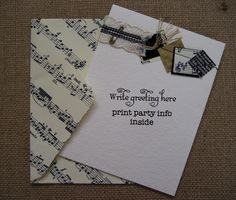 adorable handmade invitation and envelope