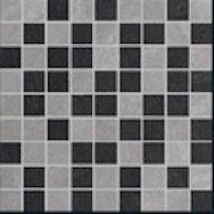 Vega Mosaic Mix 2 - Grey, Black Ceramic & Porcelain Backsplash Tile.