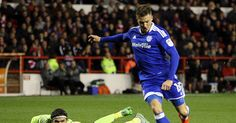 The midfielder had a great chance to put the Bluebirds 3-0 up but somehow failed to hit the target