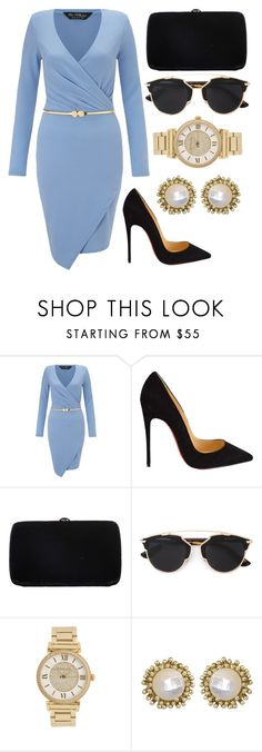 """Untitled #123"" by rodoulla97 on Polyvore featuring Miss Selfridge, Christian Louboutin, Sergio Rossi, Christian Dior, Michael Kors, Kendra Scott, women's clothing, women's fashion, women and female"