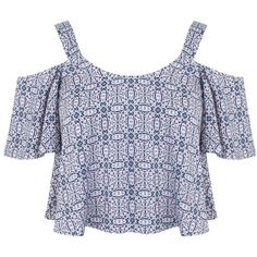 Miss Selfridge Petites Gyspy Cami Top ($18) ❤ liked on Polyvore featuring tops, crop tops, shirts, mid grey, petite, petite tank tops, crop tank top, pattern shirts, crop tank and gray shirt