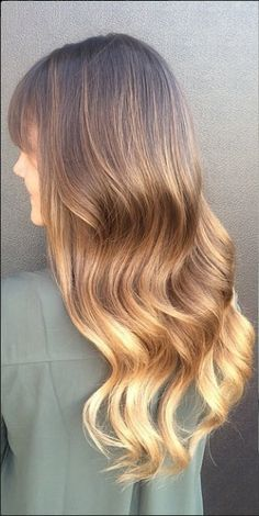 warm brunette ombre