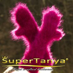 Extra fuzzy Made to order hand knitted purple mohair by supertanya