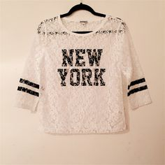 Express Lace New York Top !!!! Super Cute Lace Top from Express, NWOT, Great for layering or wearing by itself !!!! Express Tops Blouses