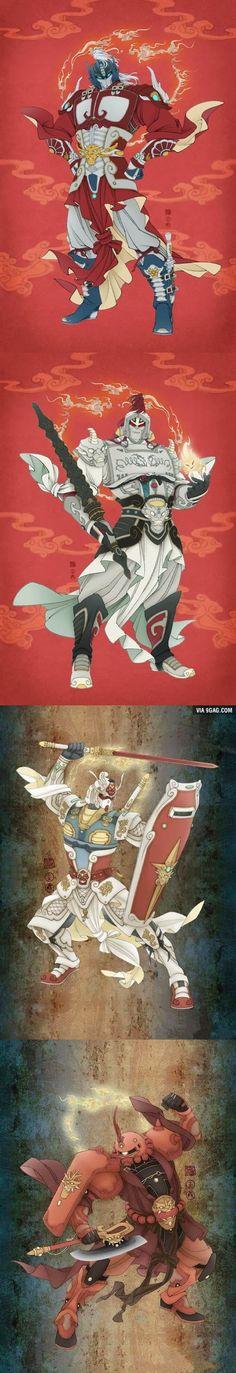 "Asian Traditional Art: Transformers And Gundam ""The Art of War"""