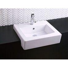 "American Standard ""white boxe semi"" 17 3/4"" wide, requires min. 13"" deep vanity optional towel bar mounts under basin"