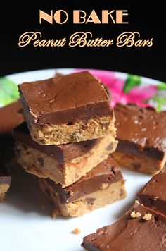 No - Bake Peanut Butter Bars Recipe - Yummy Tummy Peanut Bar, Peanut Butter Bars, Peanut Butter Recipes, Complete Recipe, Chapati, Homemade Candies, Dessert Recipes, Desserts, Recipe Collection