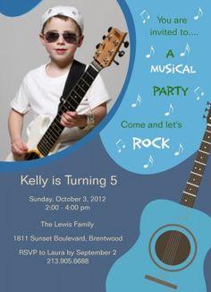 17 best guitar themed birthday images on pinterest rock star party kids birthday invitations guitar guy design filmwisefo
