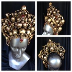 montage of golden skull crown. I would totally rock this fucking crown!