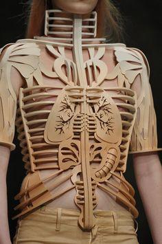 Manish Arora... wooden clothes fashion