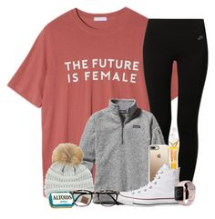 """""""The future is female"""" by southernstruttin ❤ liked on Polyvore featuring StyleNanda, NIKE, Burt's Bees, Patagonia, Casetify, Topshop, Kenneth Jay Lane, Kate Spade, Apple and C.C"""