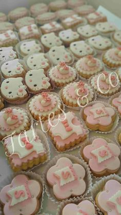 Girl baby shower cookies by Tartes & Co Algiers