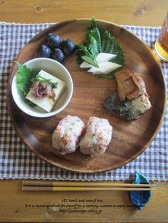 Japanese meal on one plate