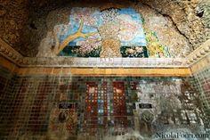 Quel che rimane del Grottino Chini (Galileo Chini) alle Terme Alte di Porretta (BO).