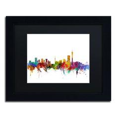 Michael Tompsett 'Johannesburg South Africa Skyline' Matte, Framed Wall Art