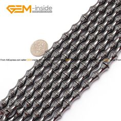 Black Hematite Bamboo With Magnetic Beads For Jewelry Making 8x12mm 8x16mm 15inches DIY FreeShipping Wholesale Gem-inside #Affiliate
