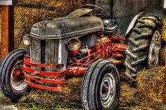 Ford Tractor by Bassbro Antique Tractors, Vintage Tractors, Vintage Farm, Antique Cars, Vintage Tools, 8n Ford Tractor, Tractor Pictures, Classic Tractor, Cross Paintings