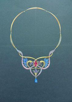 "Necklace ""Brightness"" on Behance"