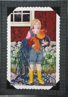 """""""Shannon's Bantam"""" by Denise T Havlan.  Outstanding Art Quilt award, 2010 Road to California. The quilt took 4 years to complete."""