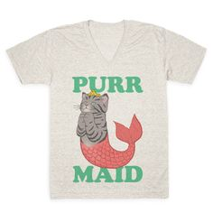 Purr Maid V-neck Tee | Look Human