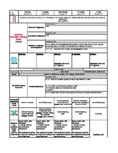 pre-made 1st Grade Common Core Lesson Plan Template has reading and math common core standards as drop down menus.  custom templates are also available for purchase.