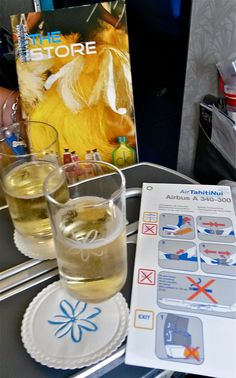 Welcome Aboard Air Tahiti Nui- Poerava Business class