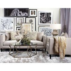 "indochine rug - platinum - 3'6"" x 5'6"" | room, living room"