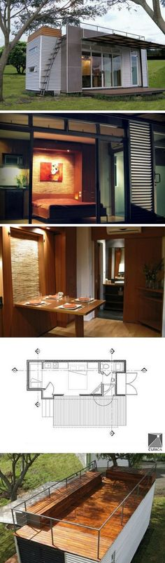 Cubica Tiny Container Home  ~ Great pin! For Oahu architectural design visit http://ownerbuiltdesign.com