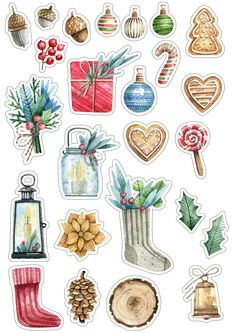 icu ~ Pin by PRAEW Yinglerd on Planner Deco Stickers, Journal Stickers, Scrapbook Stickers, Cute Stickers, Planner Stickers, Christmas Stickers Printable, Christmas Clipart, Printable Stickers, Christmas Printables