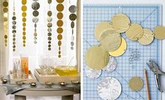martha stewart streamers diy new years decor