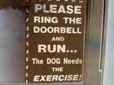 ring the door bell