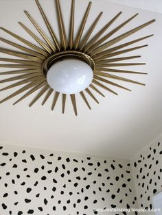 DIY ceiling mounted sunburst light.