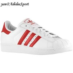 newest 717e4 15e89 Men Adidas Originals Superstar 2 white Scarlet light sneakers leather HOT  SALE! HOT PRICE!