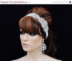 ON SALE - SWAROVSKI Crystal Headband , Bridal Headpiece , Bridal Hair Accessory , Wedding Headband , Bridal Headband on Etsy, $79.95