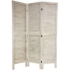 Loft Living: Antique Shutters Room Divider