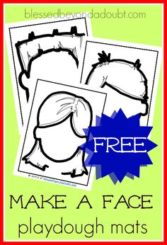 FREE make a face playdough mats that help teach emotions and feelings.