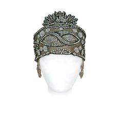 1920's Opulent Gold-Lame Rhinestone Beaded Headpiece | From a collection of rare vintage hats at https://www.1stdibs.com/fashion/accessories/hats/