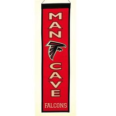 Atlanta Falcons Man Cave Banner 8'' W x 32'' L Winning St...