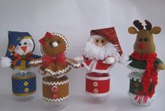 The World's Best Photos of feltro and rena Felt Christmas, Christmas Crafts, Merry Christmas, Felt Crafts, Diy And Crafts, Paper Crafts, Xmas Ornaments, Creative Gifts, Gingerbread